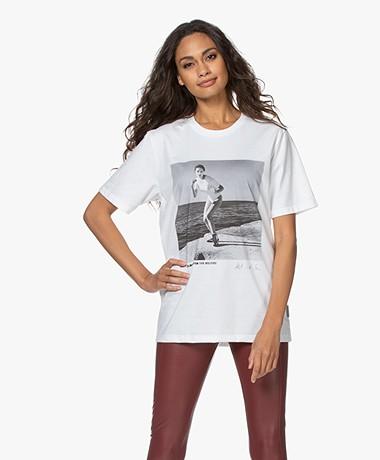 Wolford Limited Edition Helmut Newton T-shirt - Stone Grey