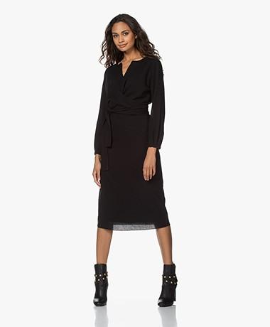 Pomandère Wool Blend Midi Dress - Black