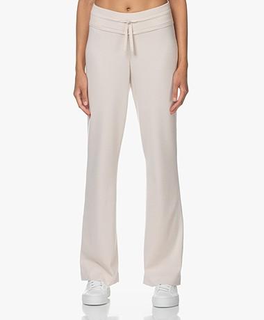 Plein Publique Le Lourdes Knitted Merino Blend Pants - Beige