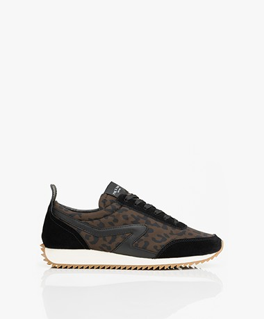 Rag & Bone Recycled Retro Runner Leopard Printed Sneakers - Black/Brown