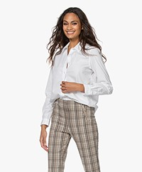 no man's land Cotton Poplin Shirt - White
