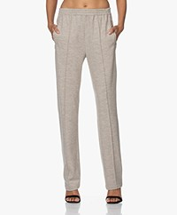 Rag & Bone Rylie Wool Jersey Pants - Oatmeal