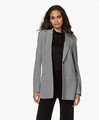 Repeat Jersey Boyfriend Blazer - Medium Grijs