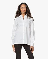 LaDress Nathalie Stretch Poplin Shirt - White