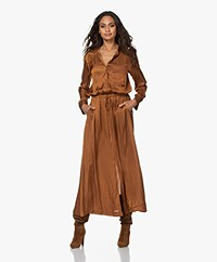 Zadig & Voltaire Radial Satin Maxi Dress - Ocre