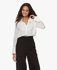 ba&sh Lol Pintuck Voile Blouse - Off-white