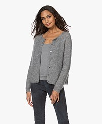 no man's land Lurex Kid Mohair Blend Cardigan - Steel