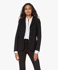 LaDress Virginie Tech Jersey Blazer - Zwart