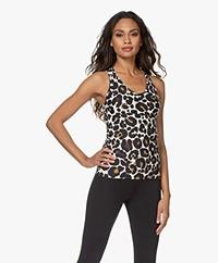 Deblon Sports Zoe Compression Top - Leopard Off-white