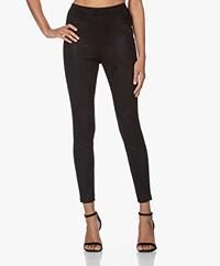 LaDress Toronto Faux Suede Slim-fit Pants - Black