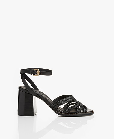 See by Chloé Alicante Braided Heeled Sandals - Black