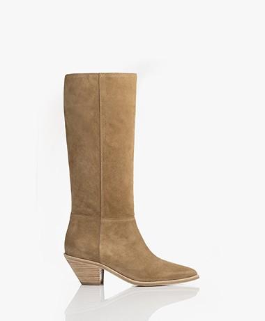 ba&sh Cowby Suede Boots - Sand