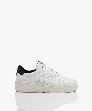 ba&sh Cuba Leather Sneakers - White