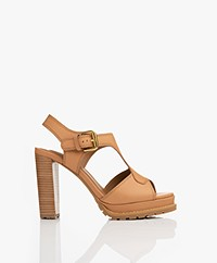 See By Chloé Brooke Block Heel Sandals - Cuoio