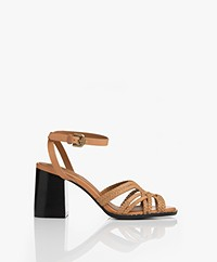 See by Chloé Alicante Braided Heeled Sandals - Cuoio