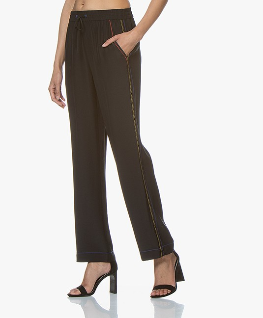 Rag & Bone Lina Silk Pants - Black