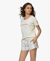 Vanessa Bruno Cotton Ccapricieuse T-shirt - Cream/Red