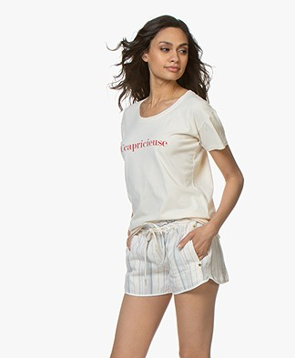 Vanessa Bruno Katoenen Ccapricieuse T-shirt - Crème/Rood