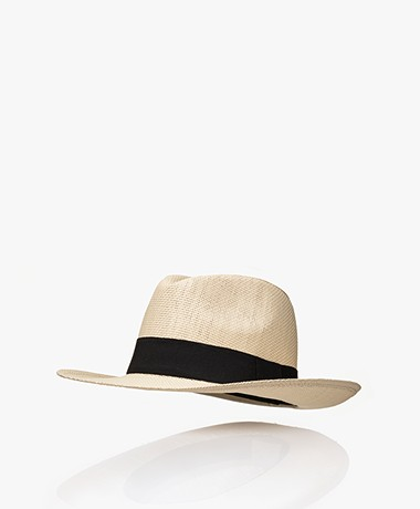 Resort Finest Fedora Hoed in Papierstro - Warm Zand