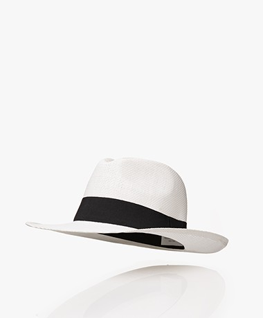 Resort Finest Fedora Hoed in Papierstro - Wit