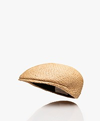 Resort Finest Stro Flat Cap - Warm Zand