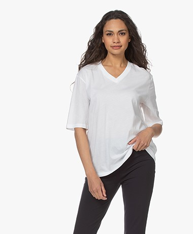 Filippa K Matilda V-hals T-shirt - Wit