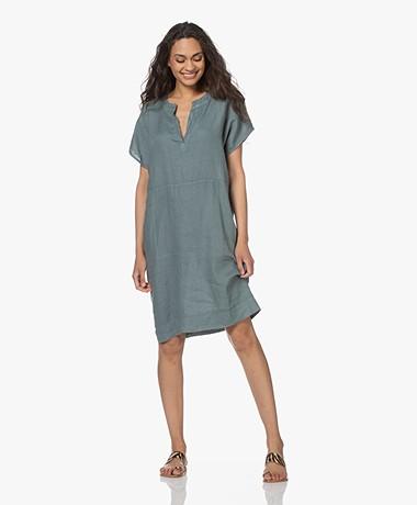 by-bar New Gitte Knee-length Linen Dress - Cloud