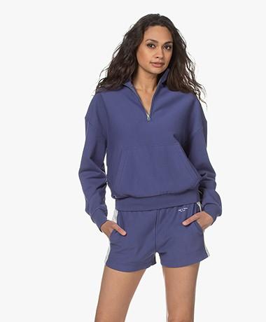 Rag & Bone City Bio Katoenen Sweater met Rits - Luminary Lavender