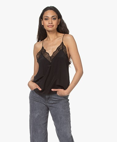 Zadig & Voltaire Christy Silk Camisole - Black