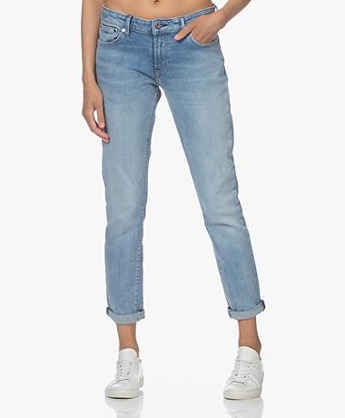 Denham Monroe Girlfriend Fit Jeans - Light Blue