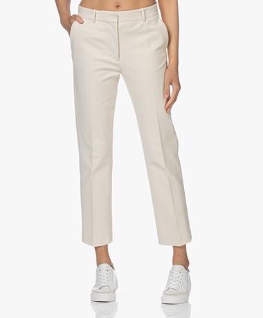 Joseph Coleman Bi-Stretch Cotton Pants - Ivory