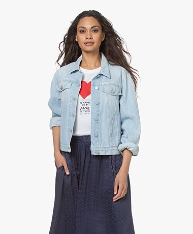 Closed Bryn Bio Katoenen Denim Jack - Lichtblauw