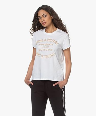 Zadig & Voltaire Zoe Blason Glitter T-shirt - White