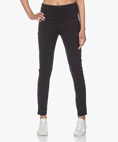 JapanTKY Wazuka Slim-fit Ponte Jersey Broek - Zwartblauw