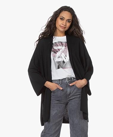 Wolford Aurora Cradle-to-Cradle Scheerwollen Vest - Zwart