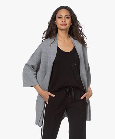Sibin/Linnebjerg Carola Merinomix Open Vest - Sweat Grey
