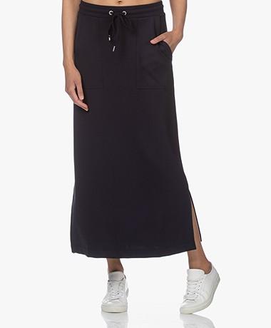 JapanTKY Fugi Tencel Jersey Maxi Skirt - Black Blue
