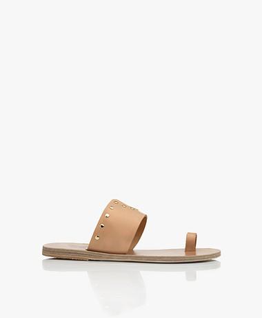 Ancient Greek Sandals Sotiria Sandalen met Studs - Natural