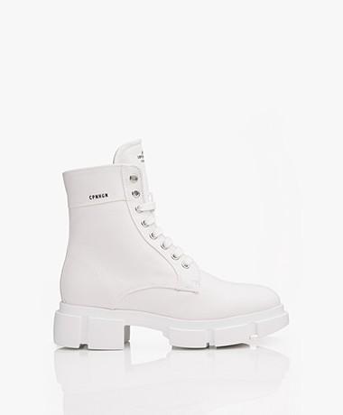 Copenhagen Studios Canvas Lace-up Boots - Off-white