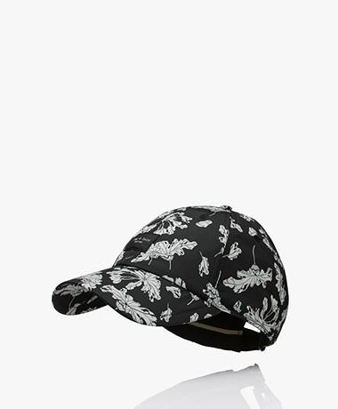 Rag & Bone Addison Printed Cap - Black Floral