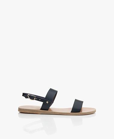 Ancient Greek Sandals Clio Leren Sandalen - Marine