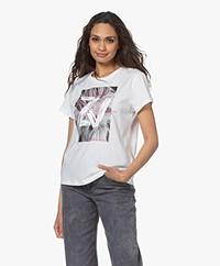 Zadig & Voltaire Zoe Fotoprint Katoenen T-shirt - Wit