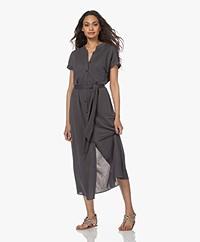 Plein Publique La Calme Button-through Dress - Anthracite
