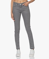 Zadig & Voltaire Eva Raw Hem Slim-fit Jeans - Grey