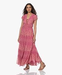 Vanessa Bruno Rachel Crepe Floral Print Maxi Dress - Rose