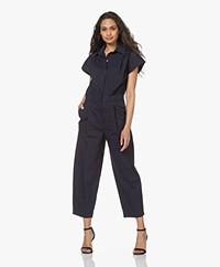 Denham Mia Poplin Jumpsuit - Navy Blazer