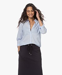 Belluna Velvet Poplin Shirt - Light Blue