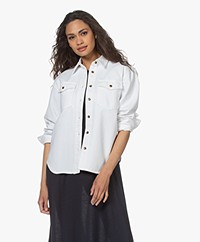 FRAME Boyfriend Denim Blouse - Wit