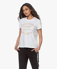 Zadig & Voltaire Zoe Blason Glitter T-shirt - Wit