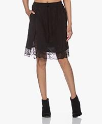 Zadig & Voltaire Jillian Silk Jacquard Skirt - Black